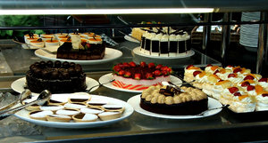 dessert selection1: variety of desserts for eating selection