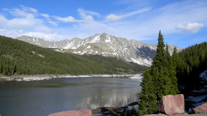 Colorado: A mountain that I think is in the San Isabel National Forest. It's between Leadville and Copper Mountain Ski resort.
