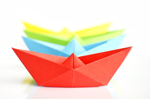 RGB paper boats: Small paper boat collection