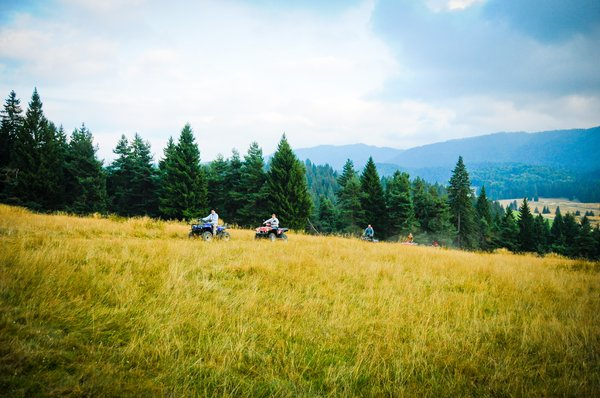 ATV on muntain trip: ATV on muntain trip