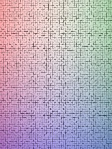 Background: RGB tiles: Background with subtle red, green and blue colors and a tiles pattern in front.