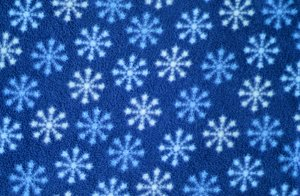 snow pattern: Blue fabric snow pattern