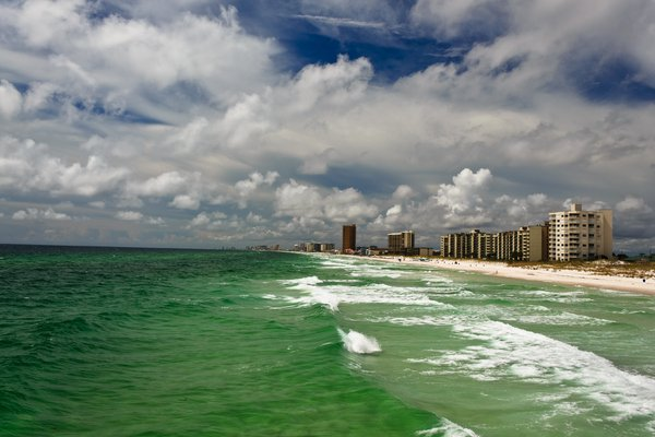 Clouds over Beach: Panama City Beach,Fl. on a cloudy day.