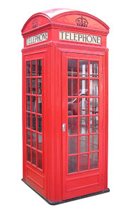 Phone Booth: A London phone booth.