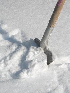 shoveling the snow