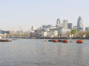 London panorama: A panorama of London - and Thames.