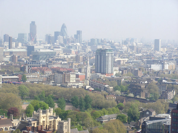 London from the sky: Or just from the high building.