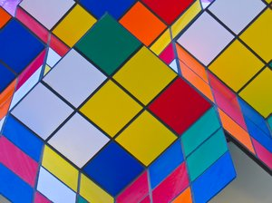 colourful squares texture