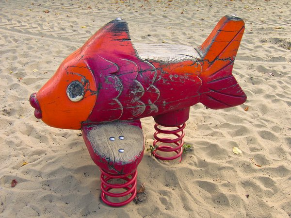 wooden fish rocker