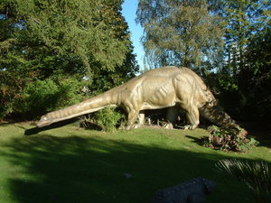 Dino: Dinosaur model at Hagenbeck's Tierpark, the zoo in Hamburg.