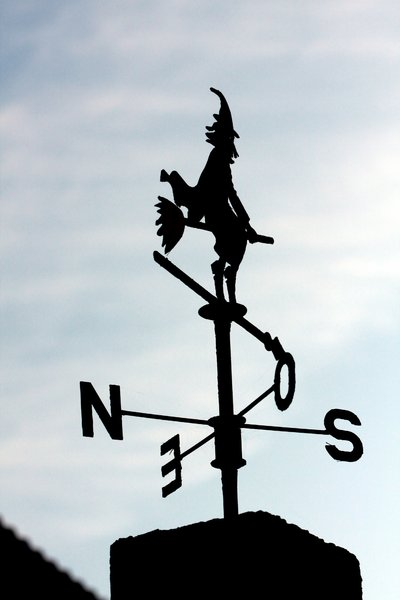 Weather vane witch