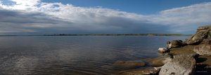 Fresno Panorama: Fresno Reservoir in North Central Montana