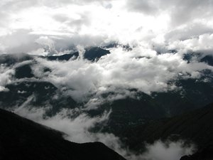 clouds and mountains landscape: clouds and mountains landscape