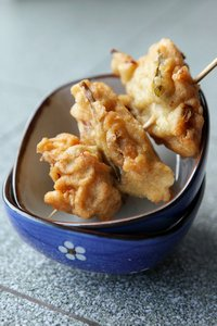 Prawn Fritters: Delicious prawn fritters - a favorite Asian snack