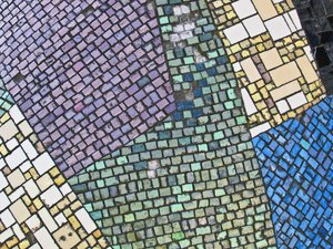 colourful mosaic stone texture