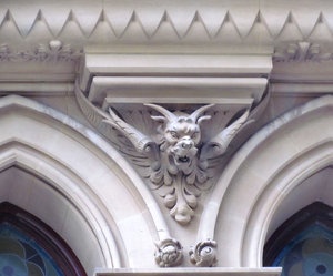 gothic decorative architecture: mythical monsters and creatures as architectural decorations