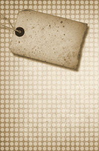 Grungy Tag: A monotone collage with a vintage tag.
