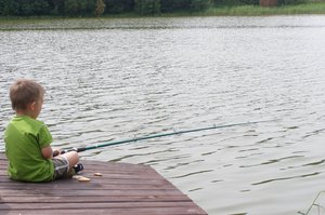 fishing: fishing boy