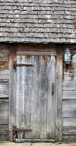 wooden shack door: rustic old wooden shack