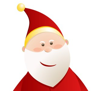 Christmas Elements - Santa 2: Santa Claus on the white background