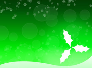 Christmas leafs 2 - Green