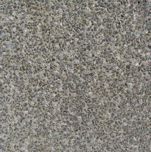 blue metal chips in concrete