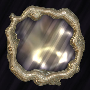 Mirror, Mirror: A fairytale magic Mirror with an ornate metallic frame.