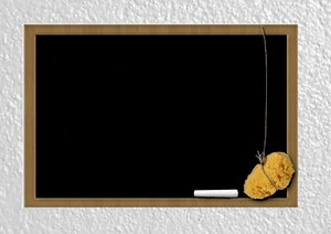 Blackboard: Blackboard on white wall