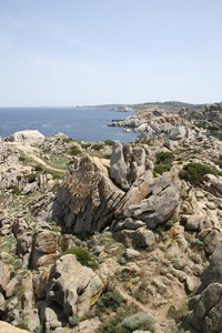Weird rock formations: Weird wind-eroded rock formations in Sardinia.