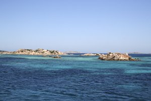 Many tiny islands: Islets among the Maddalena Islands, Sardinia.