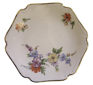 Empty Plate: A decorative plate.
