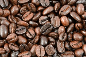 Coffee Beans Texture: Close-up coffee bean texture.