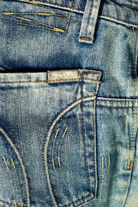 Blue Denim 2: Texture of blue denim