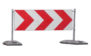 Detour: Some roadsigns. Road blocked.