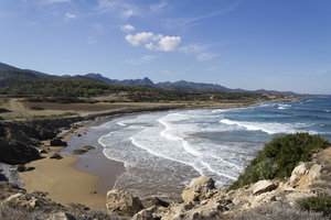 Sandy bay: A sandy bay on the northern coast of Cyprus.