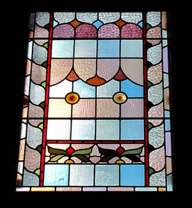 light colours5: old stained glass windows with abstract patterns
