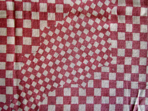 squared angles: fabrics and textiles with variety of textures and designs