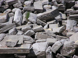 Stones: Some stones / debris. The pile was on the construction yard of EURO 2012 Stadium in Warsaw.