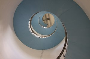 Staircase: Spiral staircase in a lighthouse in Lyngvig, Denmark