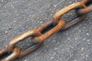 Rusty Chain: Rusty Chain on the ground