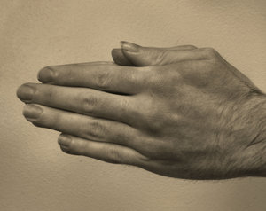 praying hands6: man's hand as in prayer