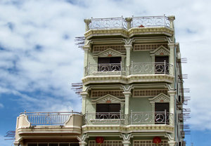 colorful architectural angles6: distinctive architecture with balconies and views in Cambodia