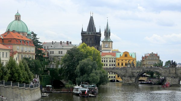 Charles Bridge, Prauge: The Old Town side of the Charles Bridge.