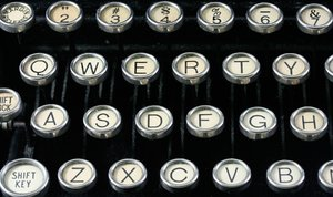 Antique Typewriter Close-up