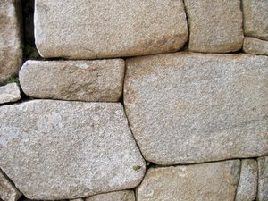 Inca Stones Texture: Close-up Inca stone texture from Machu Picchu, Peru.