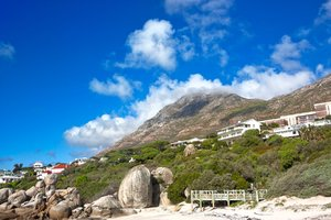 Boulders Beach Villa - HDR: Wide-angle scenery of a villa at Boulder Beach near Cape Town, South Africa. HDR composite from multiple exposures.