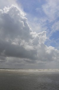 Clouds: Marvelous clouds above the Dutch coast, near the well known city of Zandvoort
