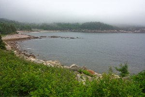 Cape Breton Mist - HDR: Misty coastal scenery along the Cabot Trail in Cape Breton, Nova Scotia Canada. HDR composite from multiple exposures.
