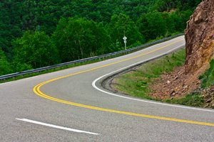 Winding Road: Winding road scenery from the Cabot Trail in Cape Breton, Nova Scotia (Canada).