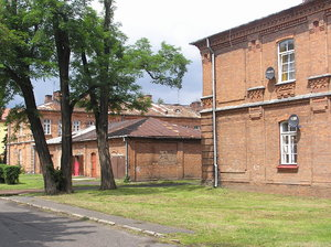 XIX century houses: A soldiers' houses from the end of XIX century and the beginning of the XX century. Modlin Fortress area, Poland.